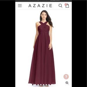 Azazie Kayleigh Dress in Cabernet
